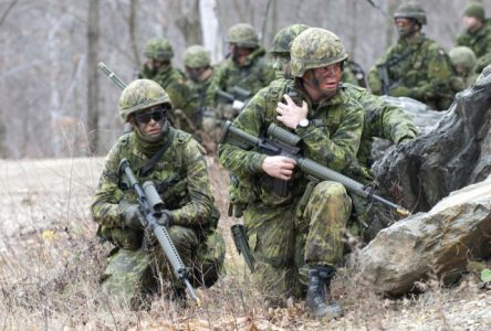 Exercice militaire à Thetford Mines