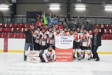 Les Appalaches Pee-Wee «C» couronnés grands champions