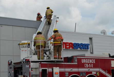 Intervention des pompiers au Carrefour Frontenac