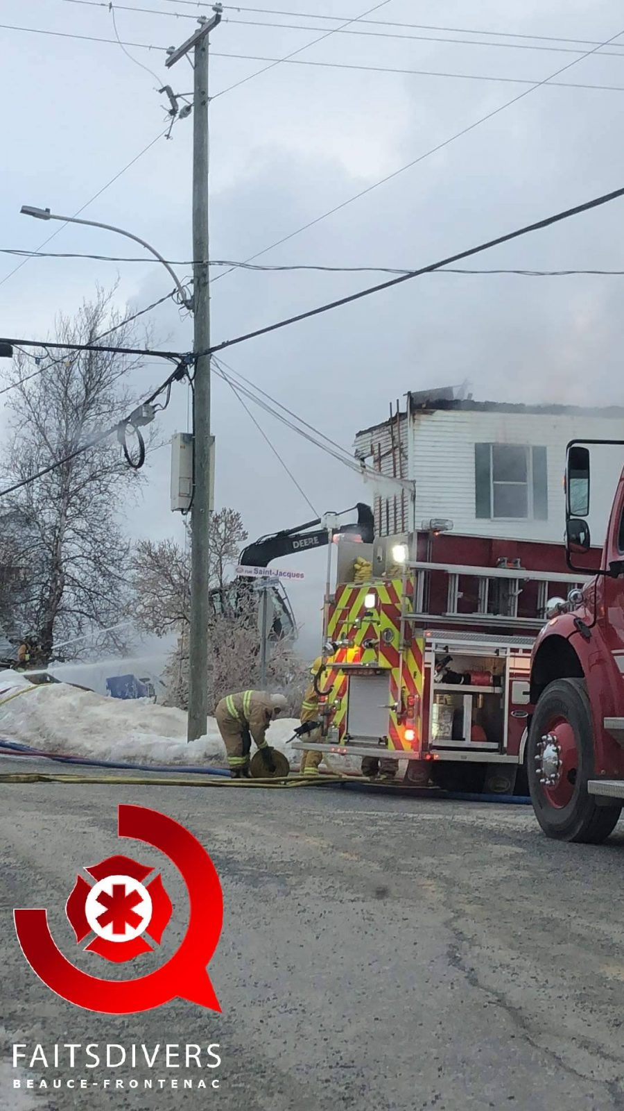 Important incendie à Beaulac-Garthby
